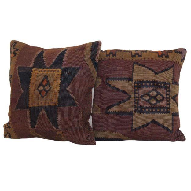 antique-anatolian-kilim-rug-pillows-a-pair 1