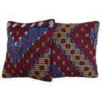 16'' Decorative Kilim Pillows - A Pair