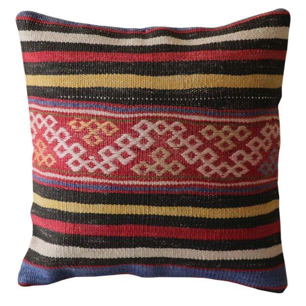 Distressed-Multicolor-Kilim-Pillow 1