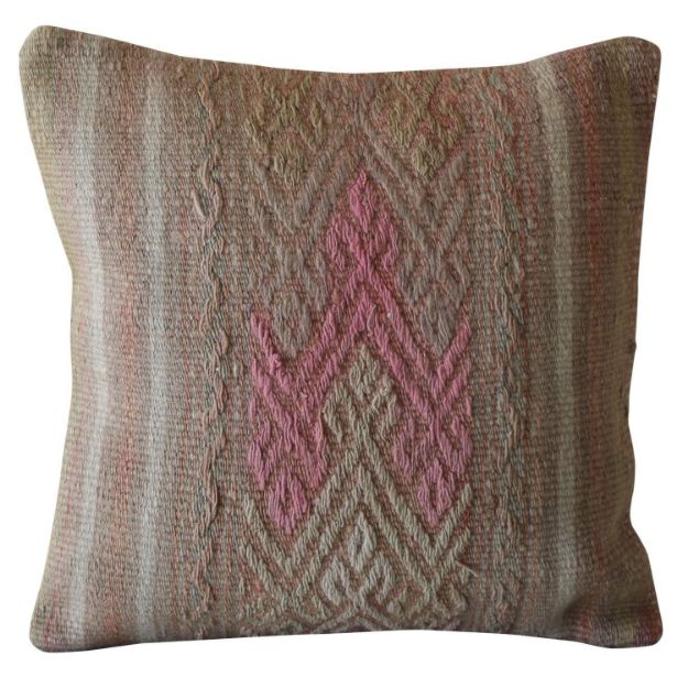 Faded-Distressed-Pink-Kilim-Pillow 1