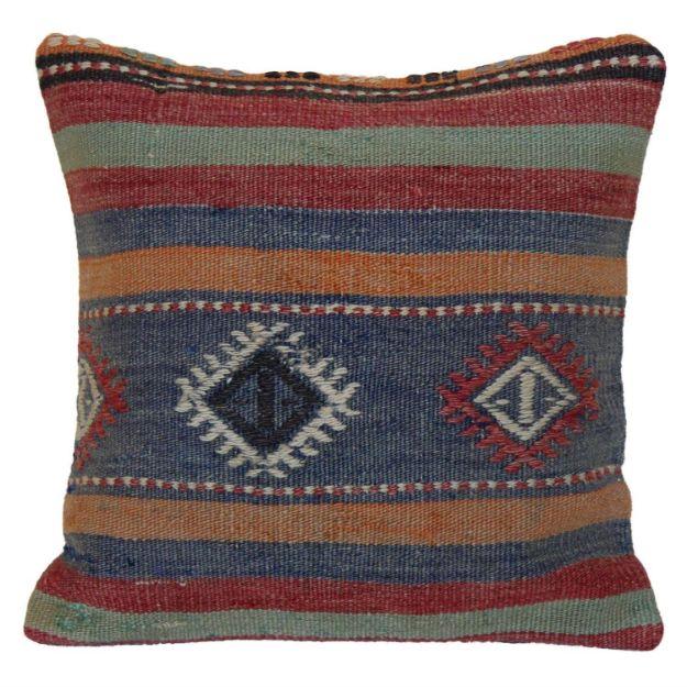 Handwoven-multi-colored-Kilim-Pillow 1