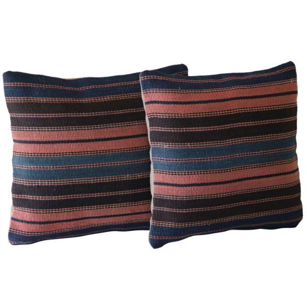 Kilim-Pillows-with-Stripes - A Pair 1