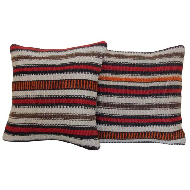 striped-kilim-rug-pillow-a-pair 1