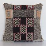 Turkish-vintage-handmade-wool-kilim-pillowcase 2