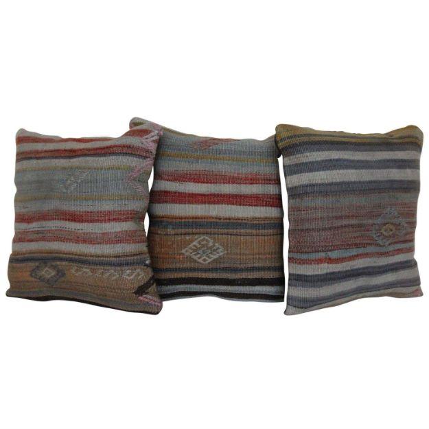 16'' Wool Turkish Kilim Pillows Set of 3