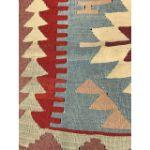 VE2259-Handmade Turkish Flat Woven Kilim Rug - 3'x4'-3