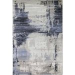 Abstract Area Rug Brown