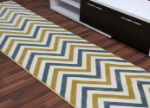 Picture of Chevron Blue & Yellow Rug