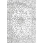 Picture of Distressed Medallion Rug Light Gray