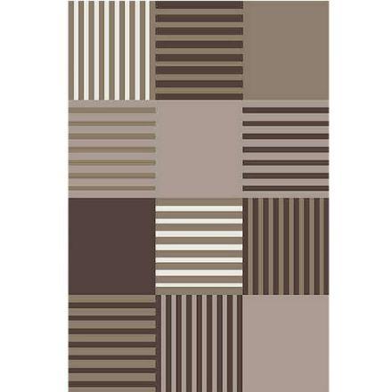 Geometric-Checker-Brown-Rug