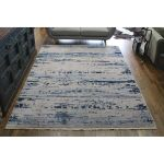 Picasso-Relined-Abstract-Blue-Rug