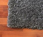 Picture of Shag Rug Dark Gray and Charcoal