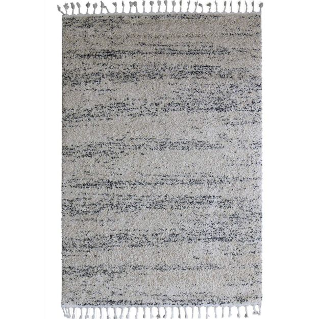 Tassel Plush Shag Abstract Rug
